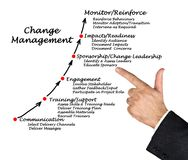 Diagram of Change Management. Presenting Components of Change Management Royalty Free Stock Images