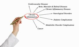 Chronic Inflammation. Presenting consequences of Chronic Inflammation Royalty Free Stock Images