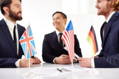Presenting countries Stock Photo