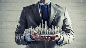 Presenting development project Royalty Free Stock Photo