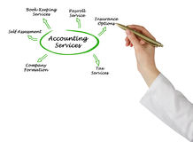 Diagram of Accounting Services. Presenting diagram of Accounting Services Stock Image
