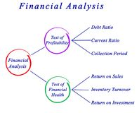 Financial Analysis. Presenting diagram of Financial Analysis Royalty Free Stock Image