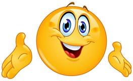 Presenting emoticon vector illustration