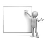 Presenting on empty whiteboard Royalty Free Stock Photos