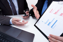 Presenting financial data on business meeting Royalty Free Stock Photos