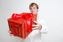 Presenting a gift Stock Photo