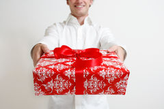 Presenting a gift Royalty Free Stock Photography