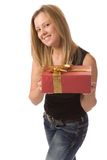 Presenting a gift Stock Photography