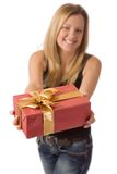 Presenting a gift Royalty Free Stock Images