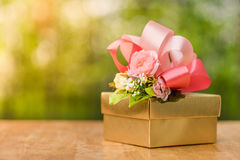 Presenting the gift in special time Royalty Free Stock Photography