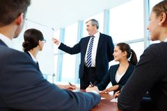 Presenting ideas Stock Images