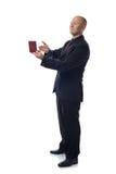 Presenting passport Royalty Free Stock Photos