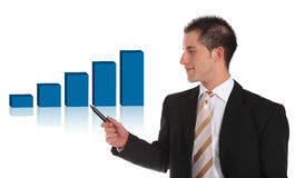 Presenting a positive bar graph Royalty Free Stock Image