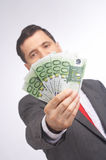 Presenting profit Stock Image
