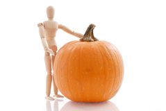 Presenting a Pumpkin Royalty Free Stock Photos