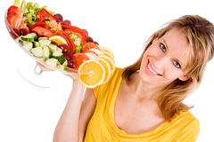Presenting the salad royalty free stock photo
