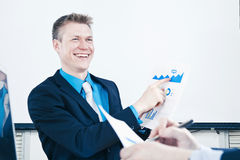 Presenting sales report Royalty Free Stock Image