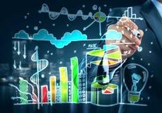 Presenting sales statistics Stock Image