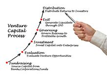 Venture Capital Process. Presenting steps of Venture Capital Process Stock Photos
