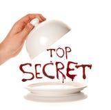 Presenting a top secret Stock Image