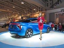 Presenting Toyota FCV Stock Photography