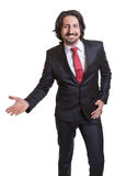 Presenting turkish businessman with suit Royalty Free Stock Photo