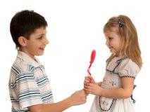 Presenting valentine Royalty Free Stock Photo