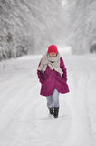 Presenting winter fashion Stock Image