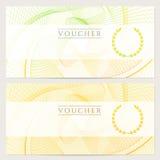 Presentkort (kupong, biljett, kupong). Färg stock illustrationer