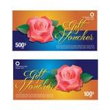 Presentkort kupongmall Fotografering för Bildbyråer