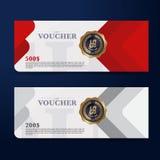Presentkortdesignbegrepp för gåvakupongen, inbjudan, certifikat, reklamblad, baner Royaltyfri Bild