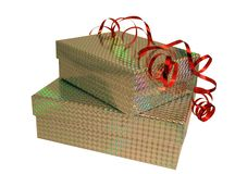 Presents. Brightly wrapped presents stock photography