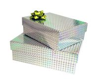 Presents. Sparkling bright presents Stock Photos