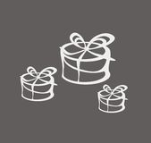 Presents. Picture with presents for decoration, grey vector Royalty Free Stock Photography