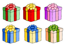 Presents. A couple of gift boxes stock illustration
