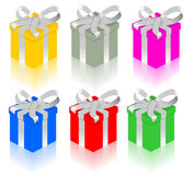 Presents. Illustration of Christmas presents in different colors Royalty Free Stock Photo