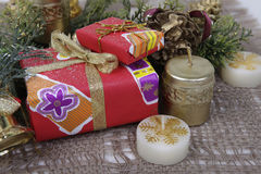 Presents. Christmas presents in the color packing Royalty Free Stock Photo