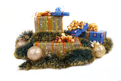 Presents. Christmas presents in the color packing Royalty Free Stock Images