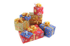 Presents. Christmas presents in the color packing Royalty Free Stock Photography