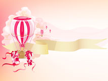Presents. Festive postcard with air balloons and presents Royalty Free Stock Images