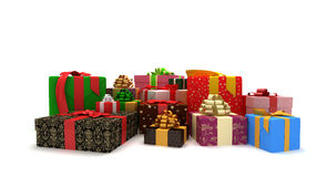 Presents. Isolated presents on the white background Royalty Free Stock Images