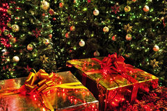 Presents. Under the Christmas Tree Stock Image