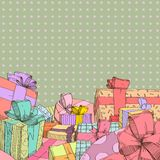 Presents. Colorful presents backgrounds, vector illustration Stock Image