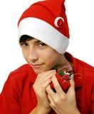 Presents. Christmas teen stock image