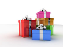 Presents. 3d rendered illustration of a few colorful presents Royalty Free Stock Photo