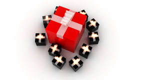 Presents - 3d render Royalty Free Stock Image