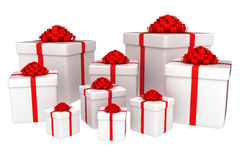 Presents - 3d render. 3D render of presents isolated on white Stock Images