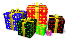 Presents. Illustration of colorful gifts isolated on white background Stock Photography
