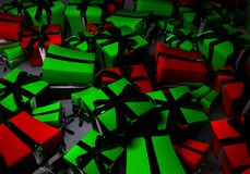 Presents. And gifts in boxes Royalty Free Stock Photo