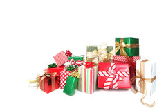 Presents Against a White Background Royalty Free Stock Photo